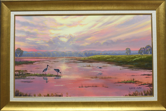 Riverstone Wetlands - Painting by Lance Jurd
