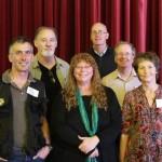 L to R: Mark Fuller, Peter Mobbs, Tanya Leary, Geoff Brown, Steve Mercer, Teresa James